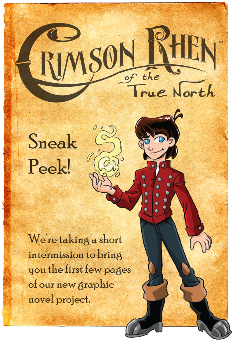 Middle Grade Graphic Novel: Crimson Rhen of the True North