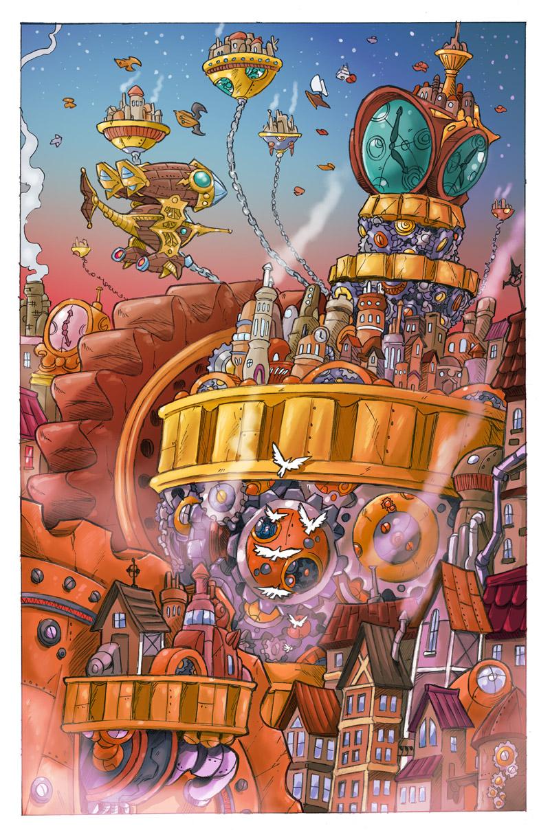 Wibbly Wobbly Timey Wimey Steampunk City
