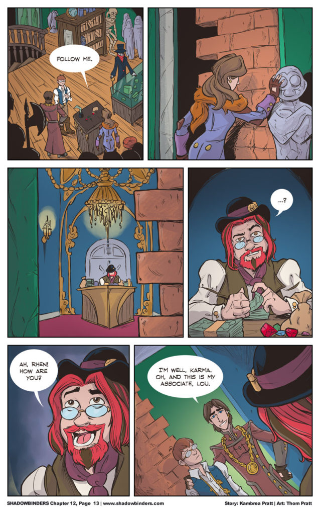 webcomics - shadowbinders - fantasy webcomic