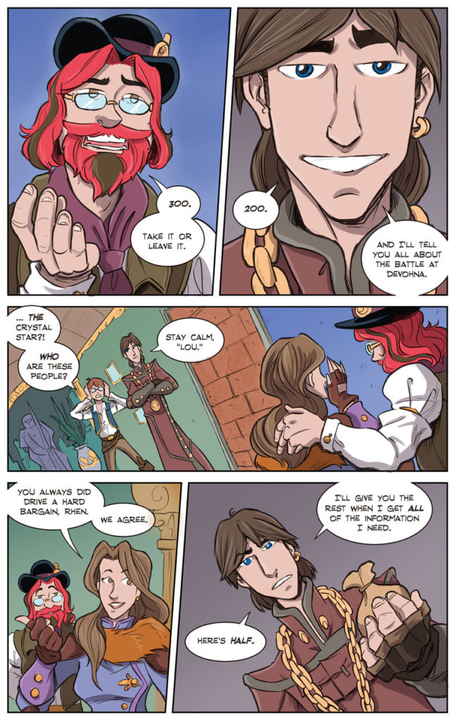 Steampunk Webcomic / Fantasy webcomic / Shadowbinders / Magic Webcomic