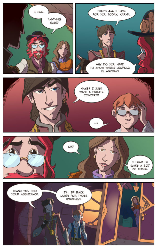 Shadowbinders #434, a steampunk fantasy webcomic